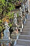 Indonesia, Bali, Brahma Asrama Vihara (bouddhist temple), stairs to the stupa