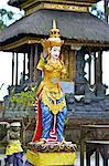 Indonesia, Bali, temple at lake Batur, statue