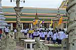 Thailand, Bangkok, Wat Pho, school child