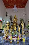 Thaïlande, Bangkok, Wat Pho, à l'intérieur d'un temple