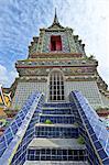 Thailand, Bangkok, Wat Pho, stairs to the Chedi