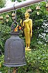 Thailand, Bangkok, Wat Saket, bell