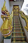 Thaïlande, Chiang Mai, wat phrathat doi suthep, escalier