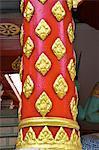Thaïlande, Chiang Mai, wat phrathat doi suthep, détail d'un pilier