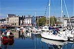 Yachts, The Barbican, Plymouth, Devon, England, United Kingdom, Europe