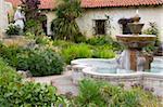 Fontaine à la Mission San Carlos Borromeo, Carmel, Monterey County, Californie, États-Unis d'Amérique, Amérique du Nord