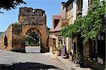 Porte Del Bos, ville Bastide, Domme, Les Plus Beaux Villages de France, Dordogne, France, Europe