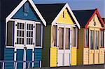 Beach huts at Mudeford, Dorset, England, United Kingdom, Europe