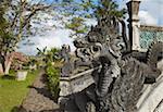 Bridge at Taman Tirta Gangga (Water Palace), Tirta Gangga, Bali, Indonesia, Southeast Asia, Asia
