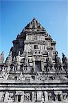 Temple at Prambanan complex, UNESCO World Heritage Site, Java, Indonesia, Southeast Asia, Asia