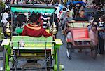 Foules sur Jalan Malioboro, Yogyakarta, Java, Indonésie, Asie du sud-est, Asie
