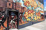 Peinture murale, le quartier de Haight Ashbury, Haight, San Francisco, Californie, États-Unis d'Amérique, Amérique du Nord
