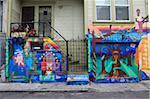 Wandbilder, milde Alley, Mission District, Mission, San Francisco, Kalifornien, Vereinigte Staaten von Amerika, Nordamerika