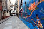 Murals, Jack Kerouac Alley, North Beach, San Francisco, California, United States of America, North America