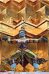 Temple du Bouddha Émeraude (Wat Phra Kaew), le Grand Palais, Bangkok, Thaïlande, Asie du sud-est, Asie