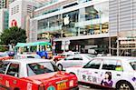 Apple Store und Taxis, Central, Hong Kong Island, Hongkong, China, Asien