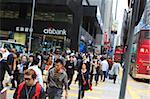 Busy crossing in Central, Hong Kong Island, Hong Kong, China, Asia