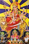 Picture of Hindu goddess Durga, India, Asia