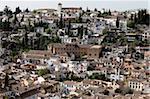 Albaicin seen from Alhambra, Granada, Andalucia, Spain, Europe