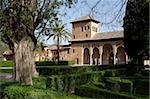 Palacio del Partal, Alhambra, patrimoine mondial de l'UNESCO, Grenade, Andalousie, Espagne, Europe