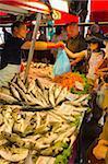 Fish market, Rialto, Venice, Veneto, Italy, Europe