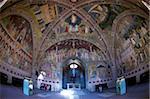 Ceiling frescoes by Andrea di Bonaiuto, Spanish Chapel, Santa Maria Novella, Florence, UNESCO World Heritage Site, Tuscany, Italy, Europe
