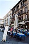 Café, Piazza del Duomo, Côme, lac de Côme, Eurpoe, lacs italiens, Lombardie, Italie