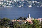Église de Lakeside à Cernobbio, lac de Côme, Lombardie, lacs italiens, Italie, Europe