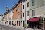 Colourful architecture, Parma, Emilia Romagna, Italy, Europe