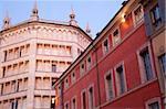 Architecture et baptistère, Parma, Emilia Romagna, Italie, Europe