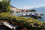Ville et au bord du lac, Menaggio, lac de Côme, Lombardie, lacs italiens, Italie, Europe