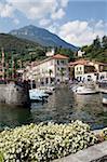 Ville et port, Menaggio, lac de Côme, Lombardie, lacs italiens, Italie, Europe