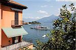 Paddlesteamer sur le lac de Côme, Menaggio, Lombardie, lacs italiens, Italie, Europe