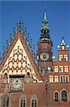 Hôtel de ville, Old Town, Wroclaw, Silésie, Pologne, Europe