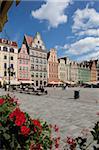 Place du marché du café, Old Town, Wroclaw, Silésie, Pologne, Europe