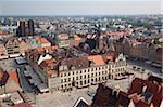 Place du marché de l'église de St. Elisabeth, Old Town, Wroclaw, Silésie, Pologne, Europe