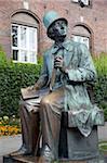 Hans Christian Anderson Monument and City Hall, Copenhagen, Denmark, Scandinavia, Europe