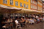 Restaurants, Nyhavn, Copenhague, Danemark, Scandinavie, Europe
