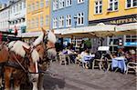 Café, Nyhavn, Copenhague, Danemark, Scandinavie, Europe