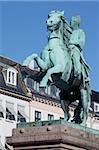 Statue, Højbro Plads, Kopenhagen, Dänemark, Skandinavien, Europa