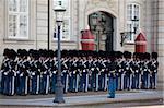 Gardes au château d'Amalienborg, Copenhague, Danemark, Scandinavie, Europe