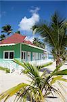 Cabane de plage, la plage de Bavaro, Punta Cana, République dominicaine, Antilles, Caraïbes, Amérique centrale