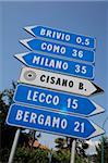 Sign, Lake Como, Lombardy, Italian Lakes, Italy, Europe
