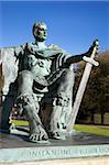Statue de Constantin, York, Yorkshire, Angleterre, Royaume-Uni, Europe