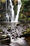 Posforth Gill Waterfall, Bolton Abbey, Yorkshire, England, United Kingdom, Europe