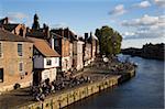 Enjoying autumn sunshine at the Kings Arms, York, Yorkshire, England, United Kingdom, Europe