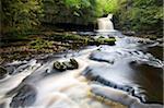 West Burton Waterfall, West Burton, Wensleydale, Yorkshire Dales National Park, Yorkshire, England, United Kingdom, Europe