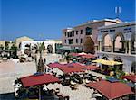 Restaurants à l'intérieur de la médina, Yasmine Hammamet, Cap Bon, Tunisie, Afrique du Nord, Afrique
