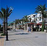 Cafés de la marina, Yasmine Hammamet, Cap Bon, Tunisie, Afrique du Nord, Afrique