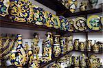 Lokal vorgenommen, Keramik, Caltagirone, Sizilien, Italien, Europa